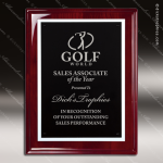 Engraved Rosewood Plaque Black Plate Silver Border Award Rosewood Piano Finish Plaques