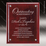 Engraved Rosewood Plaque Clear Floating Glass Award Rosewood Piano Finish Plaques