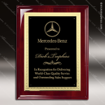 Engraved Rosewood Plaque Black Plate Gold Border Award Rosewood Piano Finish Plaques