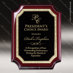 Engraved Rosewood Plaque Black Plate Gold Florentine Award Rosewood Piano Finish Plaques