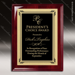 Engraved Rosewood Plaque Black Plate Gold Border Wall Placard Award Rosewood Piano Finish Plaques