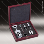 Engraved Etched Wine Tool Set Rosewood 6 Piece Gift Set Award Rosewood Wine Boxes & Tool Sets