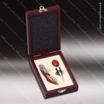 Engraved Etched Wine Tool Set Rosewood 2 Piece Gift Set Award Rosewood Wine Boxes & Tool Sets