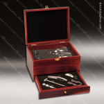 Engraved Etched Wine Tool Set Rosewood Presentation Box Glasses Gift Set Aw Rosewood Wine Boxes & Tool Sets