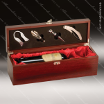 Engraved Etched Wine Tool Set Rosewood Presentation Box Gift Set Award Rosewood Wine Boxes & Tool Sets