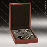 Engraved Etched Wine Tool Set Rosewood Finish 3 Piece Gift Set Award Rosewood Wine Boxes & Tool Sets