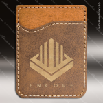Embossed Etched Leather Phone Wallet Rustic Gold Gift Rustic Brown Leather Items
