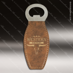Embossed Etched Leather Magnetic Bottle Opener Rustic Gold Gift Rustic Brown Leather Items