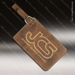 Embossed Etched Leather Luggage Tag Rustic Gold Gift Rustic Brown Leather Items