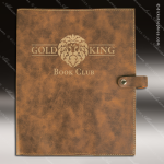 Embossed Etched Leather Book Or Bible Cover Rustic Gold Gift Rustic Brown Leather Items