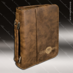 Embossed Etched Leather Book Or Bible Zipped Cover Rustic Gold Gift Rustic Brown Leather Items