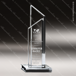 Crystal Black Accented Stratum I Sail Trophy Award Sail Shaped Crystal Awards