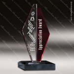 Crystal Red Accented Ruby Sails Trophy Award Sail Shaped Crystal Awards