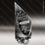 Crystal  Clear Quasar Sail Trophy Award Sail Shaped Crystal Awards