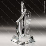 Crystal  Clear Paragon Sail Trophy Award Sail Shaped Crystal Awards