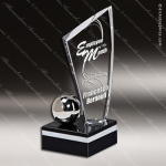 Crystal Black Accented Optica Orbit Sail Trophy Award Sail Shaped Crystal Awards