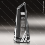 Crystal  Clear Longevity Sail Trophy Award Sail Shaped Crystal Awards