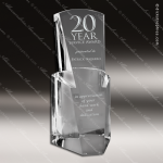 Crystal  Clear Lucent Pier Sail Trophy Award Sail Shaped Crystal Awards