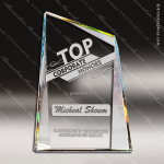Crystal Gold Accented Prism-Effect Summit Pinnacle Series Trophy Award Sail Shaped Crystal Awards