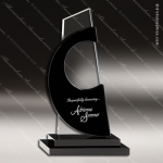 Crystal Black Accented Avant Tower Trophy Award Sail Shaped Crystal Awards