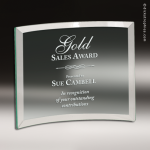 Glass Jade Accented Belmont Crescent Trophy Award Sales Trophy Awards