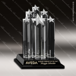 Crystal Black Accented Starburst Trophy Award Sales Trophy Awards