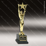 Traditional Gold Star Achievement Trophy Award Sales Trophy Awards