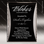 Engraved Acrylic Plaque Black & Silver Reflection Award Sales Trophy Awards
