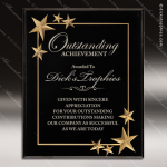 Engraved Acrylic Plaque Black Star Recognition Wall Placard Award Sales Trophy Awards