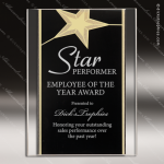 Engraved Acrylic Plaque Black & Gold Standing Star Award Sales Trophy Awards