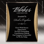 Engraved Acrylic Plaque Black & Gold Reflection Award Sales Trophy Awards