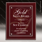 Engraved Rosewood Plaque Floating Acrylic Magna Wall Placard Award Sales Trophy Awards