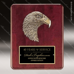 Engraved Rosewood Plaque Eagle Head Black Plate Wall Placard Award Sales Trophy Awards