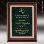 Engraved Rosewood Plaque Green Marble Plate Gold Border Award Sales Trophy Awards