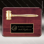 Engraved Rosewood Plaque Gavel Gold Cast Mounted Black Plate Wall Plaque Sales Trophy Awards