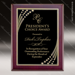 Engraved Rosewood Plaque Black Star Plate Wall Placard Award Sales Trophy Awards