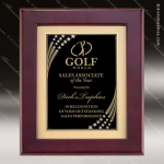 Engraved Rosewood Plaque Framed Black Plate Star Border Wall Placard Award Sales Trophy Awards