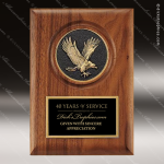 Engraved Walnut Plaque Eagle Medal Casting Black Plate Wall Placard Award Sales Trophy Awards