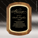Engraved Walnut Plaque Black Shield Plate Florentine Border Aw Sales Trophy Awards