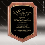 Engraved Walnut Plaque Black Shield Plate Award Sales Trophy Awards