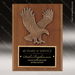 Engraved Walnut Plaque Eagle Bronze Casting Wall Placard Award Sales Trophy Awards