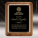 Engraved Walnut Plaque Black Round Corner Plate Wall Placard Award Sales Trophy Awards