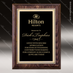 Engraved Walnut Plaque Black Plate Gold Border Award Sales Trophy Awards