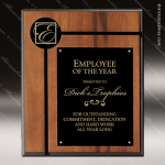 Engraved Walnut Plaque Black Plate Insert Logo Wall Placard Award Sales Trophy Awards