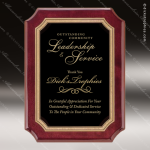 Engraved Rosewood Plaque Black Plate Gold Notched Border Wall Placard Award Sales Trophy Awards