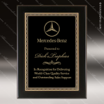 Engraved Black Piano Finish Plaque Black Plate Braided Border Wall Placard Sales Trophy Awards
