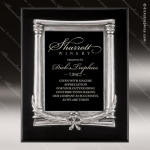 Engraved Black Piano Finish Plaque Frame Wreath Casting Black Plate Wall Pl Sales Trophy Awards