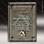 Engraved Glass Plaque Floating Bronze Luxury Art Award Sales Trophy Awards