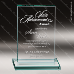 Premium Rectangle Jade Glass Accented Trophy Award Sales Trophy Awards
