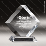 Acrylic Clear Diamond Standing Trophy Award Sales Trophy Awards